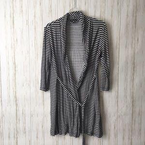 tart intimates • Navy Striped Soft Cardigan Robe